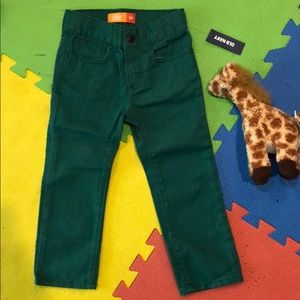 New wTags GREEN jeans by Old Navy TODDLER pants 3T